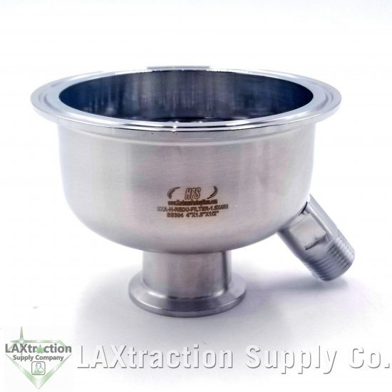 """w//male HFS 304 Stainless Steel Sanitary Reducer 6/"""" to 1.5/"""" w 6mm Holes Filter"""
