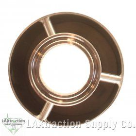 """R HFS 2/"""" X 36/"""" Stainless Sanitary Dewax Chamber Fits Tri-Clamp Ferrule Flange"""