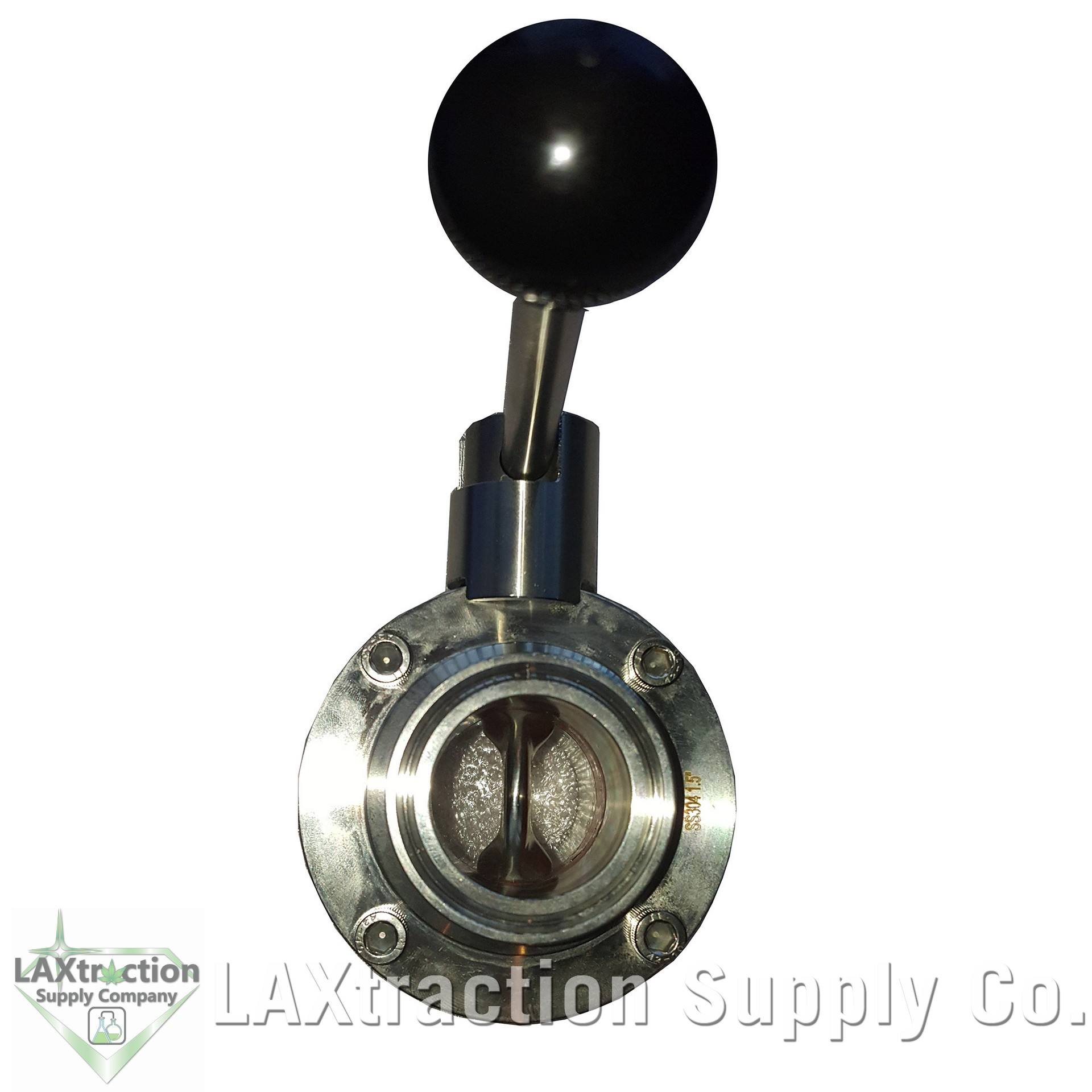 1-1/2 Sanitary Butterfly Valve - Tri Clamp Clover Stainless